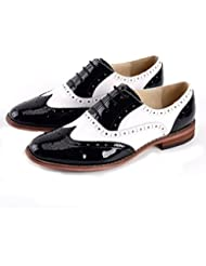 Women Oxford Leather Shoes E235