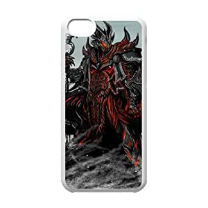 Popular And Durable Designed TPU Case With the elder scrolls v skyrim game iPhone 5c Cell Phone Case White