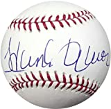 Hank Aaron Autographed Official MLB Baseball Atlanta Braves Steiner Stock #747
