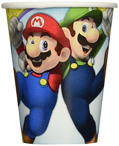 Super Mario Brothers Cups, 9 oz., Party