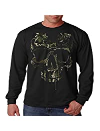 Cool Long Sleeve Shirt Special Ops Camo Skull Mens S-3XL