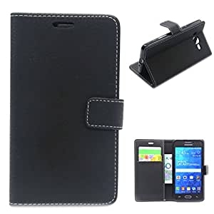 For Galaxy Grand Prime SM-G530H , TUTUWEN Litchi Texture Magnetic Wallet Premium PU Leather Stand Case Flip Protective Cover for Samsung Galaxy Grand Prime SM-G530H G5308W G5309w Black