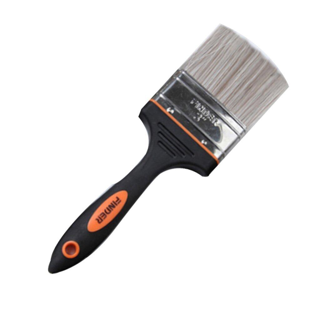 Brocha plana pinceles de pintura cepillo pinceles pintura de tiza cera cepillo pintura espejo barniz pincel para plantilla cepillo de limpieza (3 inch) X 1 Naisicatar
