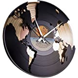 Wall Clock World Double Decker-Gold