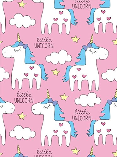 (Leyiyi 5x7ft Photography Background Cartoon White Unicorns Heart Shape Stars Cloud Baby Shower Girls Birthday Party Backdrop Banquet Home Interior Deco Photo Portrait Vinyl Studio Video Shooting Prop)