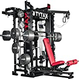TYTAX T1-X HOME GYM BEST EQUIPMENT MACHINE SET TOTAL FREE WEIGHT SYSTEMS COMPLETE ALL IN ONE UNIVERSAL MULTI STATION CABLE ULTIMATE WORKOUT FULL WEIGHT LIFTING STATION SMITH PERSONAL ROOM PERFECT
