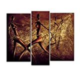 Santin Art-Chasing-Modern Canvas Art Wall Decor-Abstract Oil Painting Wall Art