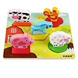 Kids Baby Wooden Anime 3D Puzzle Wooden Geometric Learning Educational Toy