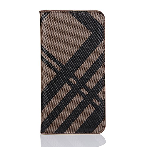 ung S7,Slim PU Leather Flip Protective Cover with Card Slots for S7 Edge (Brown, Samsung S7) ()