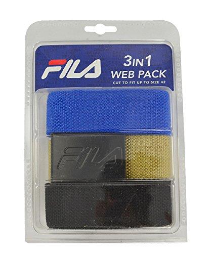 Fila- 3 in 1 Web Pack Belts Blue/Black/Khaki
