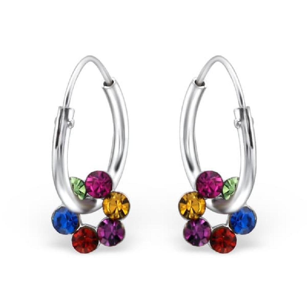 Childrens 925 Sterling Silver Flower Earrings So Chic Jewels