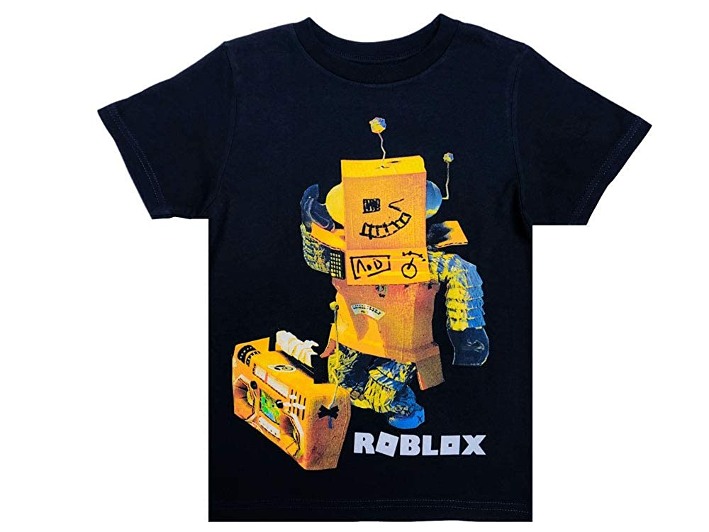 100/% Cotton Roblox Clothes Roblox Tshirt for Boys in Black