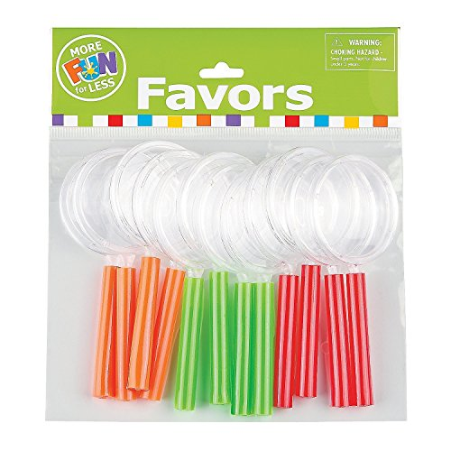 Magnifying Glass Assorted Colors Plastic