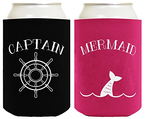 Sailing Captain Mermaid Nautical Coolers