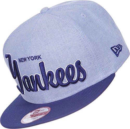 過ちクルーズ引き出すニューエラ (New Era) 9フィフティ スナップバック キャップ - レトロ ニューヨーク?ヤンキース (New York Yankees) ライトブルー