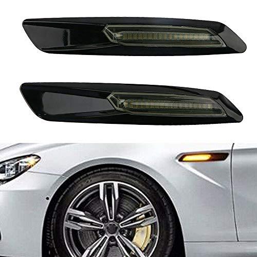 (Kamouse Black Smoke Amber Led Side Marker Turn Signal Light for BMW 1/3/5 Series E90 E91 E92 E93)