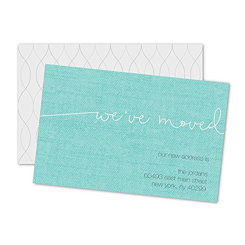 We Moved Personalized Moving Announcement - Teal (Moving Personalized Announcement)