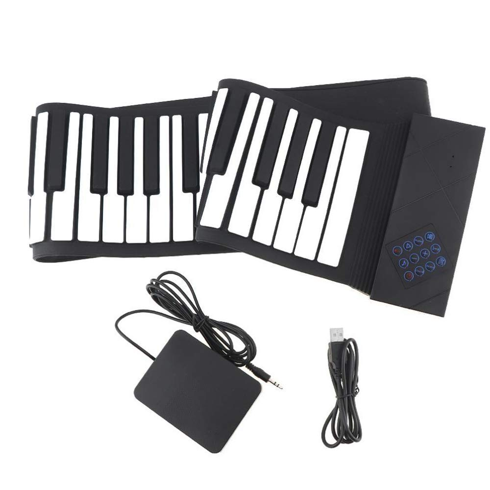 MooKe Hand Roll Electronic Piano 88 Key Thickening Bluetooth Professional Edition Adult Beginners Entry Home Portable MIDI Keyboard by MooKe