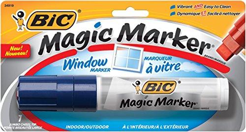 BIC  Jumbo Chisel Magic Window Markers, Blue (BICMWXP11BE) by BIC