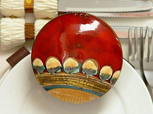 Pottery Salt Shaker, Earthenware Pepper shaker, Handmade Salt Box, Pottery Gift, Cute Kitchen Accessories, Ceramics and Pottery, Danko