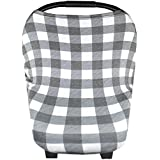 """Baby Car Seat Cover Canopy and Nursing Cover Multi-Use Stretchy 5 in 1 Gift """"The Scotland"""" by Copper Pearl"""
