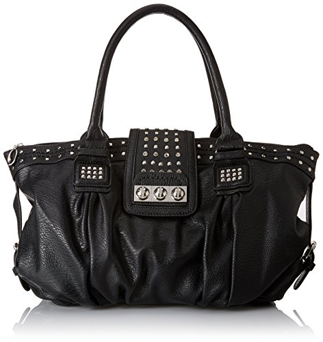 MG Collection Brenna Studded Large Shopper Hobo Shoulder Bag