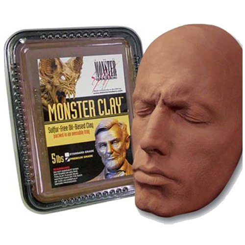 Monster Clay Premium Grade Modeling Clay (5lb) (Best Clay For Mask Sculpting)