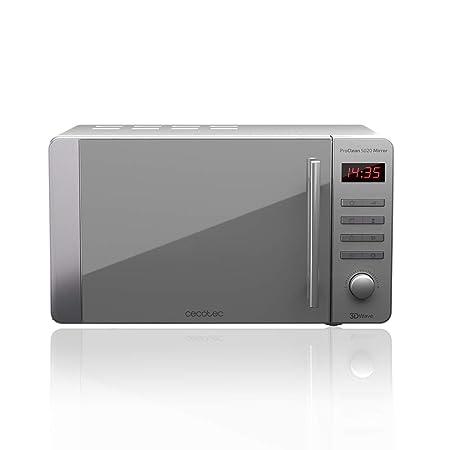 Cecotec Microondas ProClean 5020 Mirror. Capacidad de 20l, Revestimiento Ready2Clean, 700 W de Potencia, 5 Niveles Funcionamiento, 8 Programas, ...