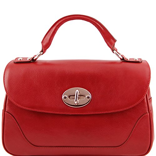 Tuscany Leather TL NeoClassic Lady leather duffel bag Red by Tuscany Leather
