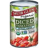 MUIR GLEN, Organic Tomatoes, Diced, No Salt, Pack of 12, Size 28 OZ, (Gluten Free GMO Free 95%+ Organic)
