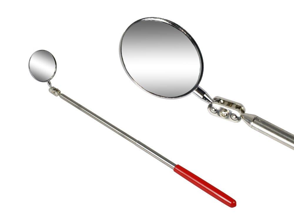 Vetrineinrete® Specchietto estendibile da ispezione specchio tondo telescopico estensibile 50 mm snodabile allungabile per auto B27