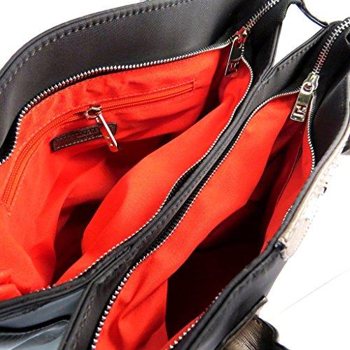 Bolsa de diseñador 'Ted Lapidus'fantasía oscura (2 compartimentos)- 34x26.5x17 cm.
