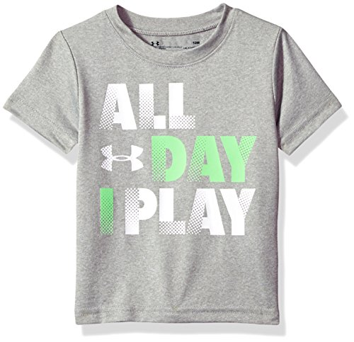 Under Armour Baby Boys All Day I Play Short Sleeve T-Shirt, True Grey Heather, 18M