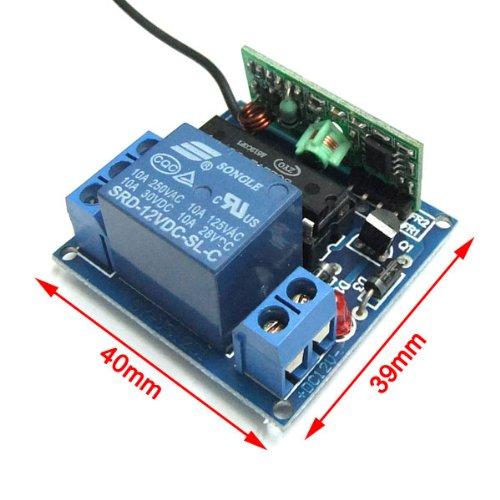 Drok self lock wireless relay garage door remote control for 12v garage door opener remote
