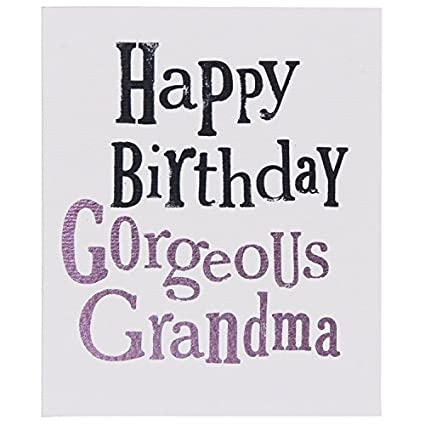 Tarjeta de felicitación de cumpleaños con la abuela, por el ...