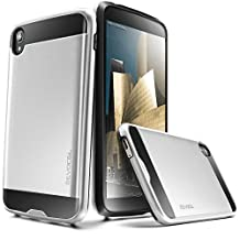 "Evocel® Alcatel OneTouch Idol 3 (5.5"") Case [Hybrid Lite Series] Slim Protector Case [Brushed Metal Texture][Slim][Shiny] For Alcatel OneTouch Idol 3 (5.5""), Silver (EVO-ALIDOL55-MS06)"