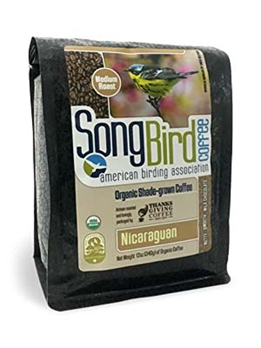 Thanksgiving Coffee 'SongBird Nicaraguan' Medium Roasted Organic Shade Grown Whole Bean Coffee - 12 Ounce Bag