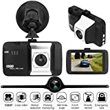Car DVR - Pausseo 3'' LCD 1080P HD Dash Cam Vehicle Video Recorder G-Sensor HDMI Camera Digital DVR Schedule Recording,Security Dashboard Camera System