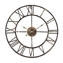Wall Clock, Living Room Clock, Retro European and American Style Wall Clock, Simple Decorative Ferris Wheel Clock