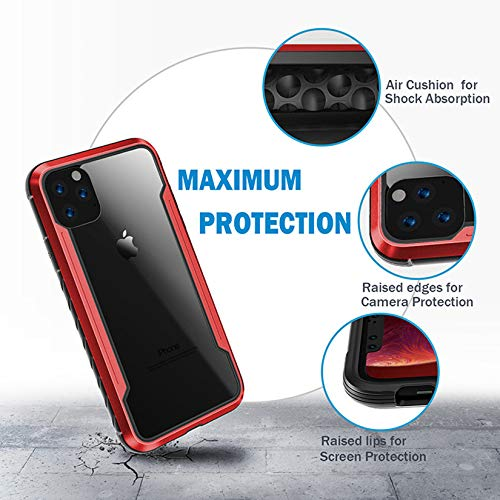 NN/AA Case for iPhone 11 Pro/11/11 Pro Max Case,Edge Shockproof [Military Grade Drop Tested] Cases Durable Metal Anodized Aluminum Frame+Flexible TPU+PC Protector (For iPhone 11 Pro,Iridescent)