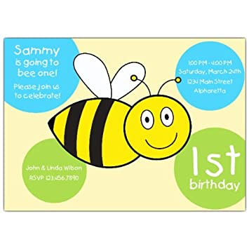 amazon com 1st birthday bumble bee boy invitations health