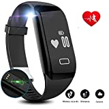 Fitness Tracker HR - Lesofod Activity Tracker with Wrist Based Heart Rate Monitor - IP57 Waterproof Smart Bracelet with Step Tracker Sleep Monitor Calorie Counter Pedometer Watch for Android and iOS