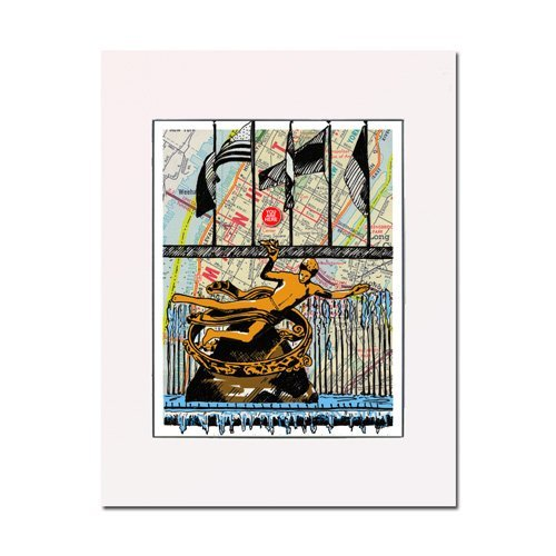 Rockefeller Center, New York City, fine art print. Enhance your home or office. Matted and ready-to-frame. Gallery quality. (Center Artwork Rockefeller)