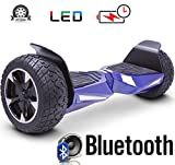 2018 Two Wheel Self Balance Scooter Off-Road Hoverboard UL 2272 Bluetooth Speakers 8.5 Inch All Terrain Road Condition (Blue)