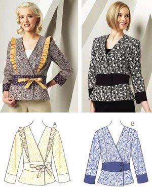 Kwik Sew Sewing Pattern 3706 Misses Sizes XS-XL (approx 6-22) Front Closure Peplum Jackets