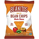 Beanitos Nacho Cheese White Bean Chips Plant Based Protein Good Source Fiber Gluten Free Non-GMO Corn Free Tortilla Chip Snack 1.2 Ounce (Pack of 24)