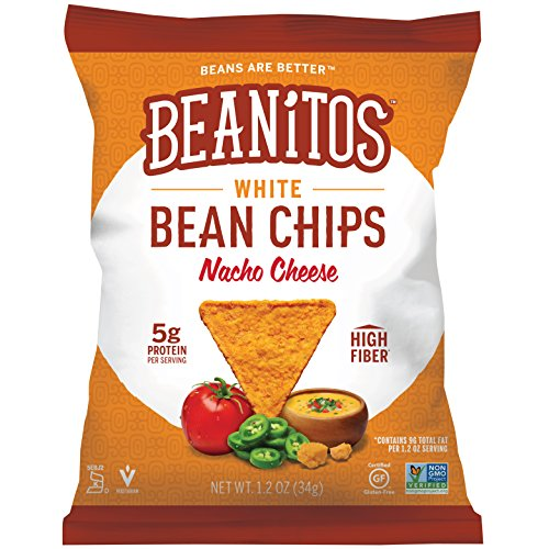 Beanitos Nacho Cheese White Bean Chips Plant Based Protein Good Source Fiber Gluten Free Non-GMO Corn Free Tortilla Chip Snack 1.2 Ounce (Pack of - Cheese Chips Nacho