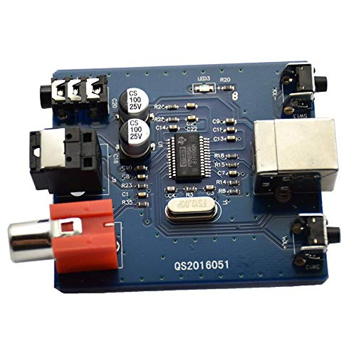 Banghotfire Pcm2704 USB Dac to S/Pdif HiFi Sound Card Decoder Board 3.5Mm Analog Output Blue