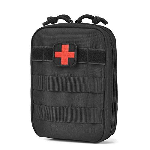 Reebow Tactical Molle Medical EMT Pouch Ifak First Aid Bag Only Military Utility Pouches (Military Waterproof First Aid Kit)