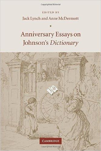 Anniversary Essays Johnson's Dict